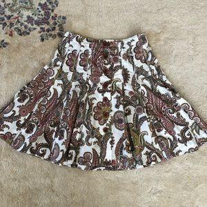 CAbi Skirts - Cabi Paisley A-Line Knee Length Skirt Size 10